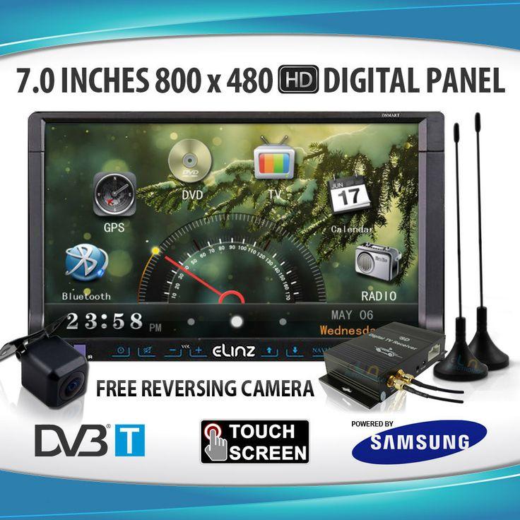 "7"" LCD IN DASH CAR GPS DVD DUAL DVB-T TV DiVX IPOD STEREO MULTIMEDIA PLAYER"