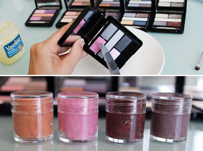 Add Eyeshadow to Vaseline for Custom Lip Gloss: Desperate to find that perfect shade? Make it yourself with our simple tutorial on creating custom lip gloss.
