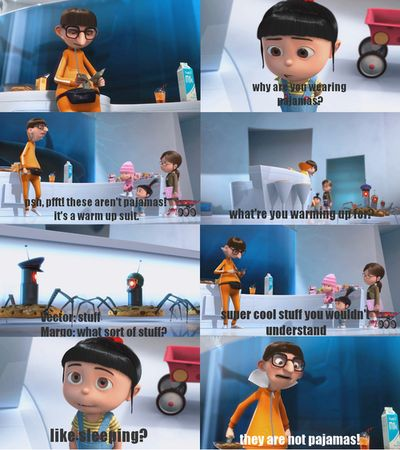 Pajamas, Awesome Movie, Little Girls, Me Quotes, Laugh, Funny Movie, Kids Movie, Despicable Me, So Funny