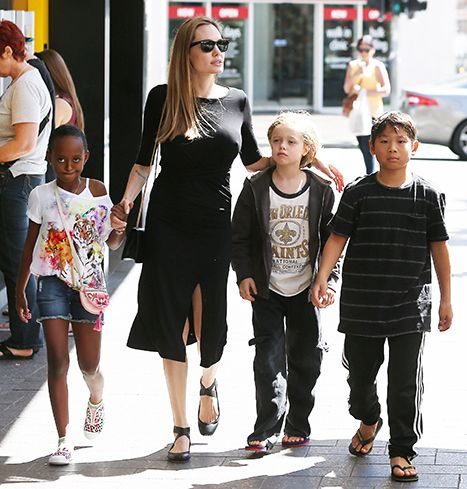Angelina Jolie Takes Zahara, Shiloh, Pax to Surf Shop in Sydney: Pic - Us Weekly