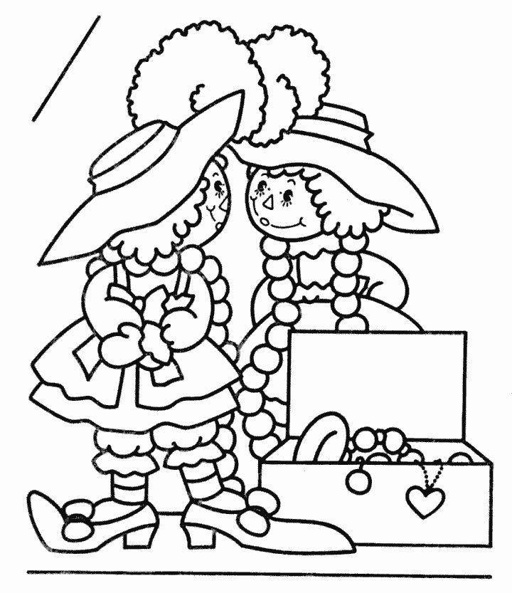 321 best Raggedy Ann Coloring Pages images on Pinterest Raggedy