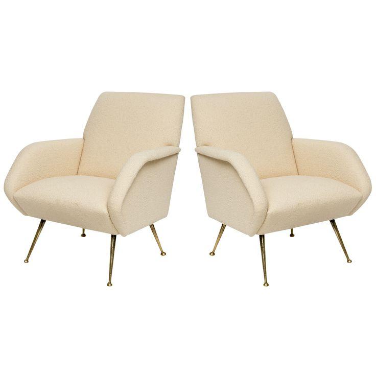 1950 s Italian Brass Lounge Chairs