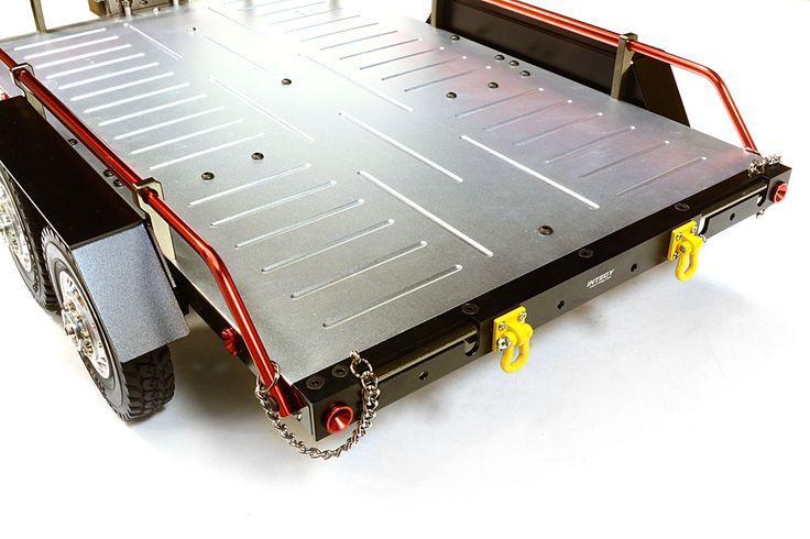 Machined Alloy Flatbed Dual Axle Car Trailer Kit for 1/10 Scale RC for R/C or RC - Team Integy
