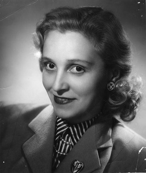 The Finnish actor Ansa Ikonen in about 1950s.