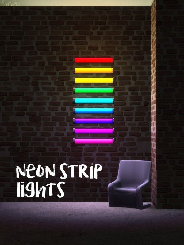 Picture Amoebae Neon Strip Lights Sims 4 Downloads Strip Lighting Sims Sims 4 Cc Furniture