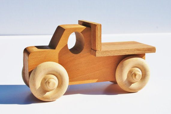 Wood Toy Truck  Wooden Toy Pick-Up Truck  by RickysHandiwork