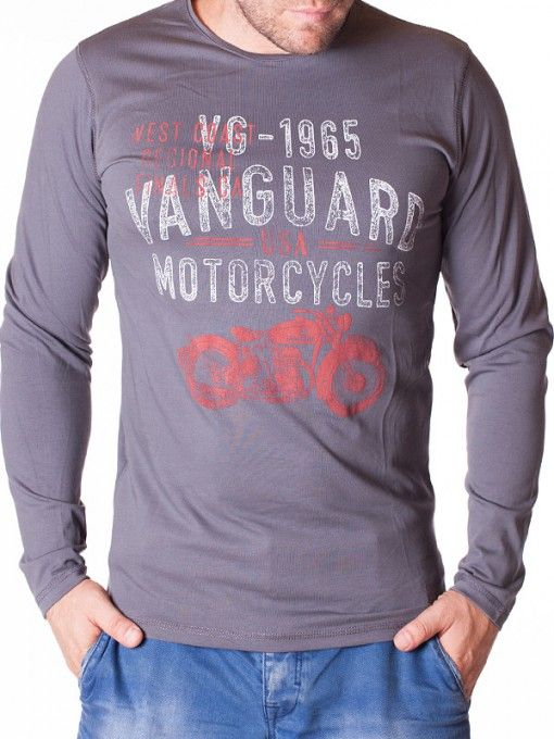 Bluza barbati Motorcycles gri inchis