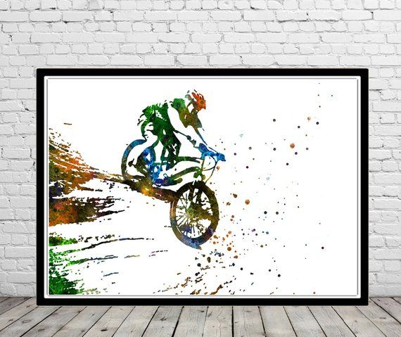 Mountain Biking Mountain Bike Sport Mountain Biking Poster