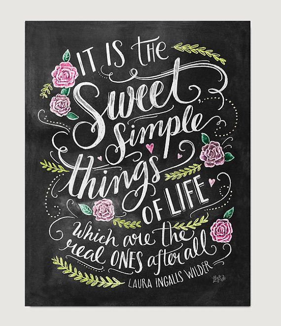 Inspirational Art - Book Lover Gift - Hand Lettered Print -Laura Ingalls Wilder - Chalk Art - Book Quote - Chalkboard Art - Chalkboard Decor