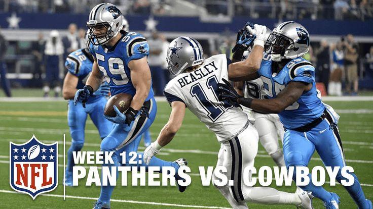 Tony Romo Serves Up an INT to Luke Kuechly, Panthers Score!   Panthers v...