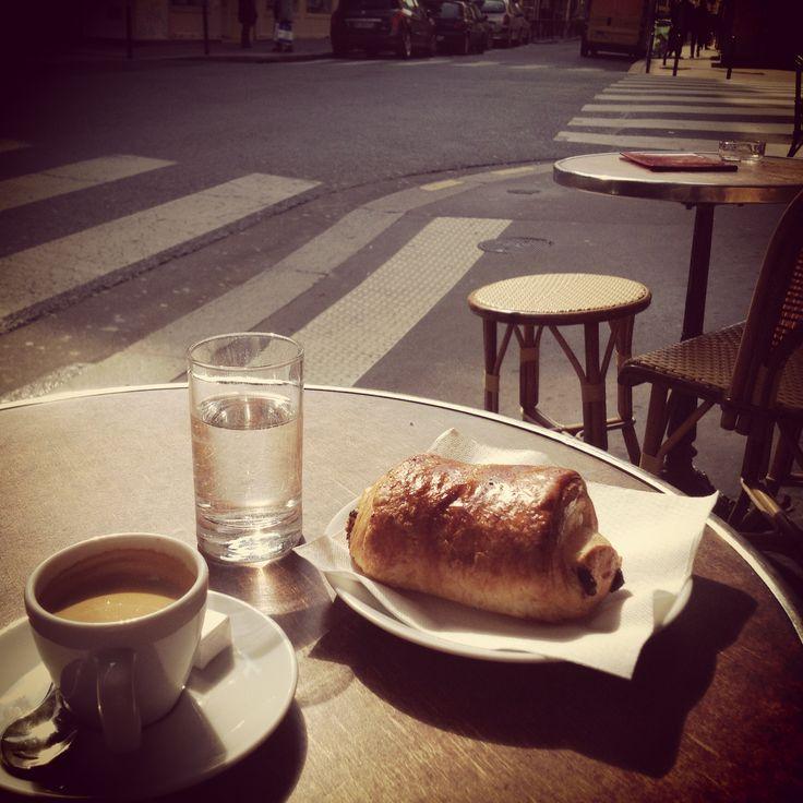 a slice of heaven cafe croissant Paris 2013