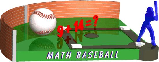 Math Baseball....Play addition, subtraction, multiplication or division!