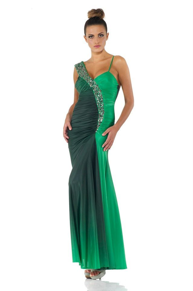 #glamour #fashion #springsummer 2014 #woman #girl #cocktaildress  #partydress #dress #longdress #abitoelegante #green #tonsurton #aperitif