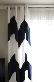 Cup Half Full: Painted Curtains DIY