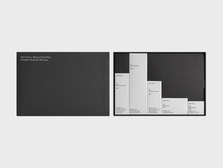 The work of Andrew Trotter. It's a super minimal packaging design for Barcelona based skincare brand, Alex Carro. The minimal design was also applied to the website, which is also wonderful.