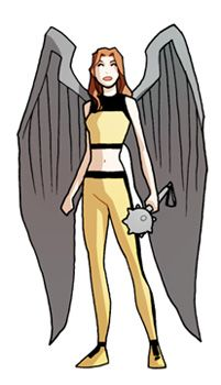 tiny Hawkgirl by *marciotakara on deviantART