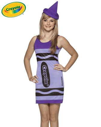 Teen Crayola Crayon Costume - Wisteria (also known as purple)