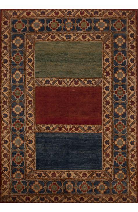 Kazak Pakistani rug. Wool. Hand Knotted. 213 x 302 http://www.rugman.com/pakistani-kazak-design-oriental-area-rug-large-size-wool-multi-color-rectangle-251-12501