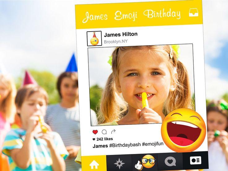 Social Prop Custom Emoji frame prop, Emoji laughing, Customize poster, frame photo prop, photobooth, poster frames, kid baby shower; 1001137 by speedyorders on Etsy https://www.etsy.com/listing/494741982/social-prop-custom-emoji-frame-prop