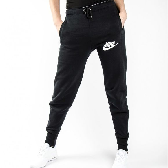 Nike Jogger Sweatpants •The Nike Rally Jogger Women's Sweatpants are made with a cozy cotton blend in a slim-fitting profile for warmth and a streamlined look. •Size S, runs big and would be best for a Medium. •New with tag. •NO TRADES/PAYPAL/MERC/VINTED/NONSENSE. •PRICE IS FIRM. Nike Pants Track Pants & Joggers