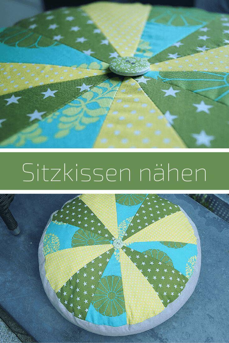Sitzkissen nähen - gratis Anleitung von Pattydoo