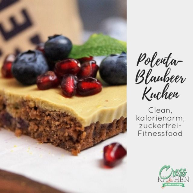 Polenta-Blaubeer Kuchen #kuchen #polenta #kalorienarm#cleaneating #clean #lowcarb #lowcarbdiet #lowcarbrecipes #gesund #gesundessen #gesunderezepte #fitness #fitnessfood #crosskitchende  #healthyfood #healthyfood #healthyeating #sugarfree #sugarfreerecipe #veganfood #vegan #veganrecipes