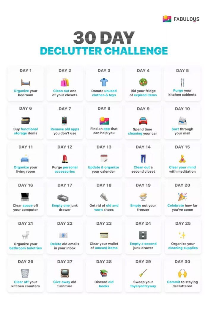 2e360fdef49b0cc9aca2ca0915612e6b 30 day declutter challenge  sadly some of these single day activities would each...