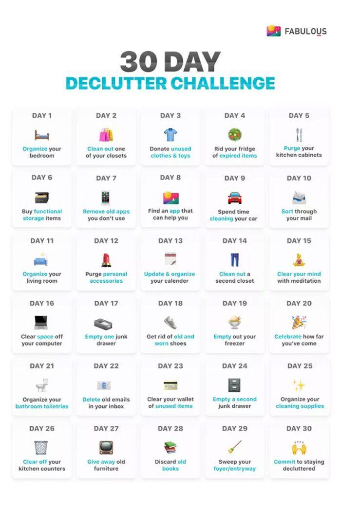 30 Day Declutter Challenge Declutter Challenge