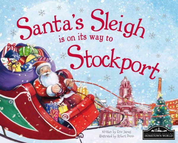 Santa's Sleigh is on its way to Stockport! The perfect Christmas gift for children, a delightful picture story book featuring lots of local places and landmarks that the young reader will recognise.