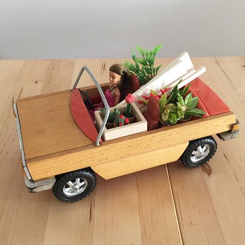 Do you ever feel like this after a trip to the hardware store? A Bunnings run to get more timber and plants for the cafe 😂😂😂 Gotta keep those boys working #hardwaresupplies #minicafe #bunningsrun #lundby #lundbycar #vintagelundby #vintagelundbycar