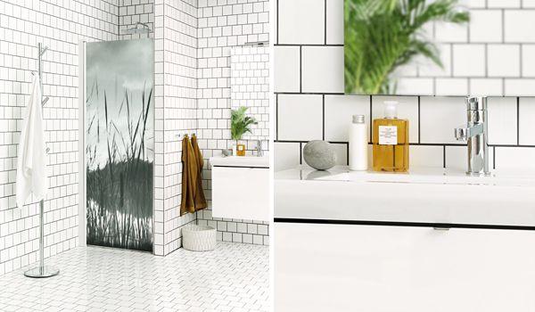 Sankan Ranta-malliston suihkuovi tuo kylpyhuoneeseen persoonallisen ilmeen. #Sanka #Ranta #kylpyhuone