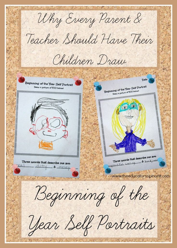 Using Self Portraits as a Beginning of the Year Assessment for teachers and parents. Great for all ages. Homeschooling assessments, Parent memory time capsules.