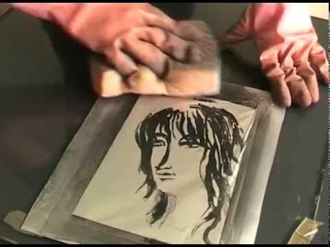 Kitchen Litho, tutoriel vidéo de la lithographie avec ce que l'on trouve dans notre cuisine (feuille d'aluminium, savon de Marseille,  cola, huile végétale), mise aupoint par Emilie Aizier (Emilion)