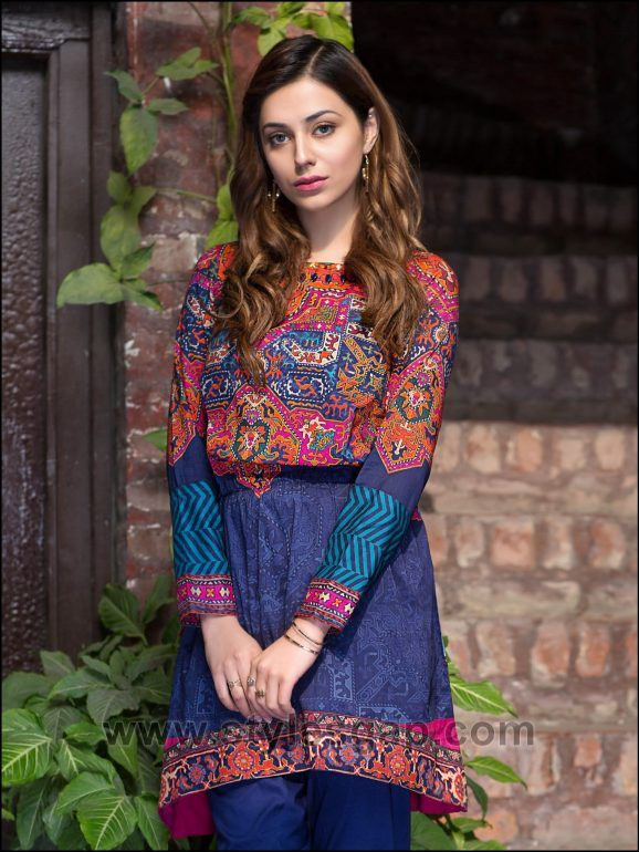 cd5069d85 Summer Fashion Lawn Kurti Designs Trends Latest Collection 2019 ...