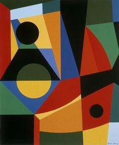Untitled, 1994 by Jean-Paul Jerome. Hard Edge Painting. abstract