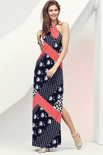Dresses | Buy Women's Dresses Online - Next Twist Neck Print Maxi Dress