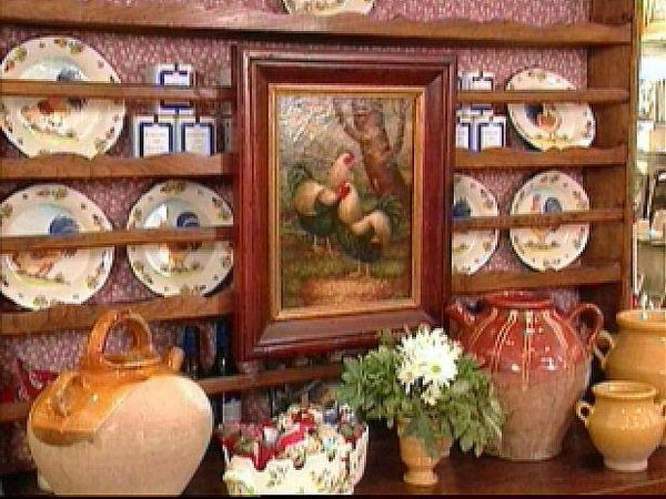 French Country Outdoor Decorating Ideas | French Country Style Furniture Shelves | Decorclips.com