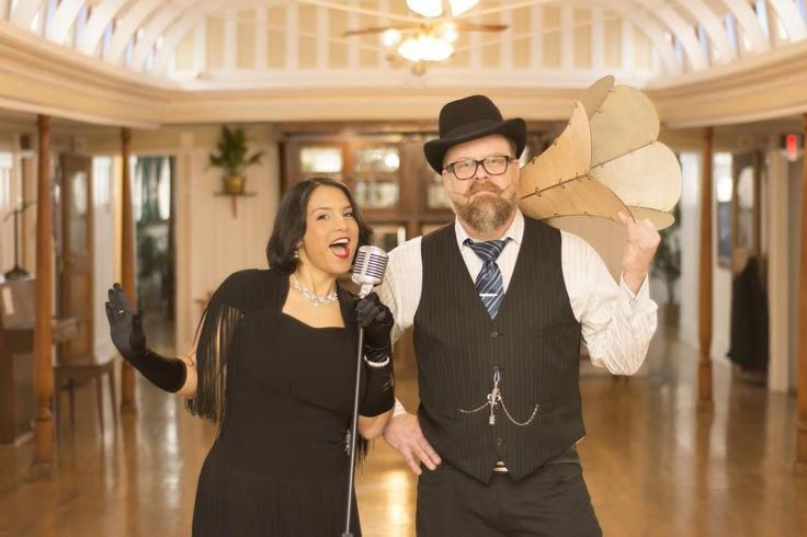 Yanti (Singer - Songwriter) and Tim Tweed (DJ Tenacious T) practice their swing steps ahead of a Great Gatsby Fundraising Event at the SS Sicamous - Penticton (2016).  Photos were taken by Callium Smith, a photographer based in Naramata BC.
