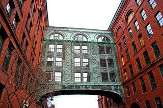 Baker Chocolate Factory, repurposed to luxury apartments, Boston