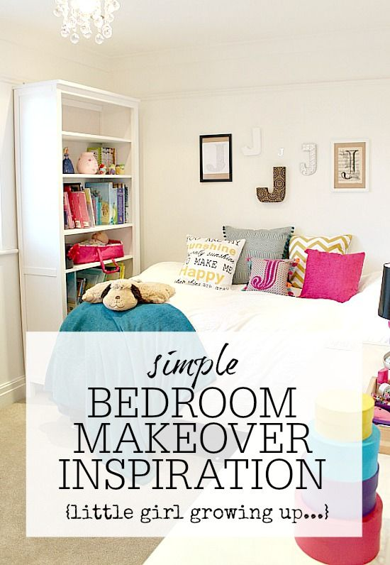 Bedroom Makeover. Tips and ideas for making a little girls bedroom more of a big girls room! Perfect ideas for when your daughter gets that little bit older. Pre teen / Teenager style.