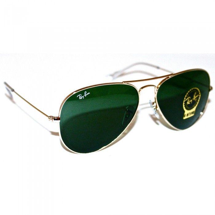 Ray-Ban Sunglasses Mens Aviators | RB3026 | L2846 | Green Arista | Sale | UK | Designer Man