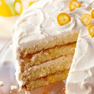 Orange Chiffon Layer #Cake: Happy Birthday, Chiffon Cakes, Orange Chiffon, Layered Cakes Recipes, Orange Cakes, Cakes Decor, Frostings Glaze, Chiffon Layered, Favorite Recipes
