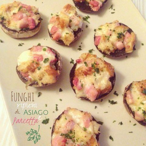 Azzu Life: Funghi ripieni di Asiago e pancetta