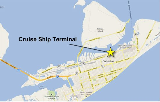 parking directions  port  galveston parking easily port  galveston cruise