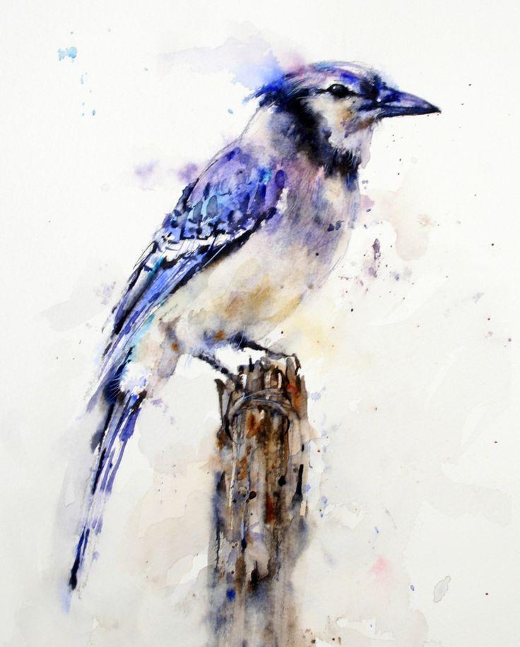 BLUE JAY TILE - Crouser Fine Art Store