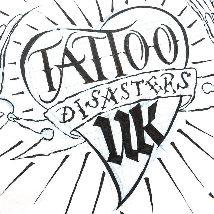 Lettering series for Tattoo Disasters UK, a new TV show created y Channel 5/Spike UK about tattoos that people have but have gone wrong.