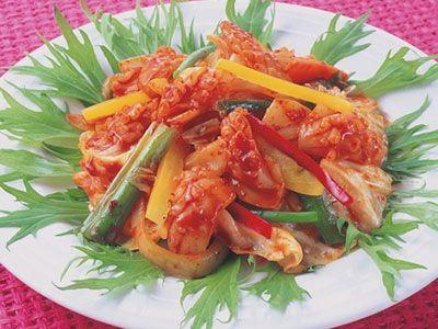 韓国料理レシピ=イカ炒め=