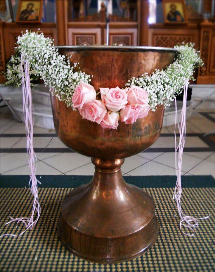 Γιρλάντα κολυμπήθρας με γυψόφυλλο & Τριαντάφυλλα