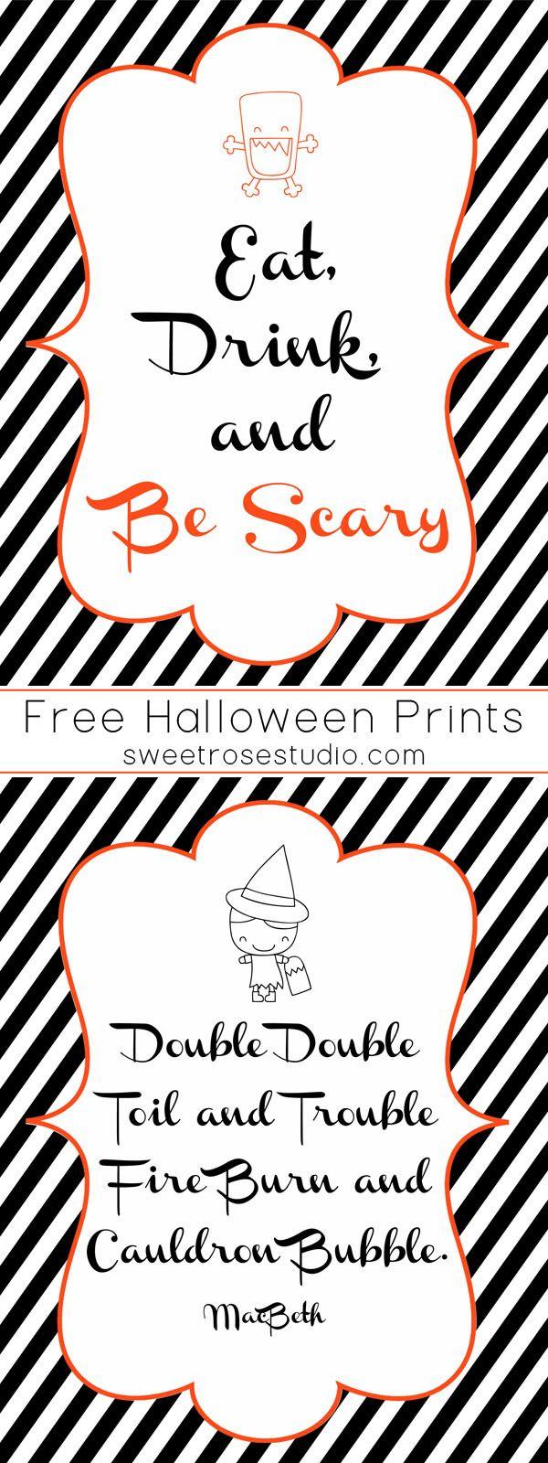 Spookiest Things FREE Halloween Prints at Sweet Rose Studio