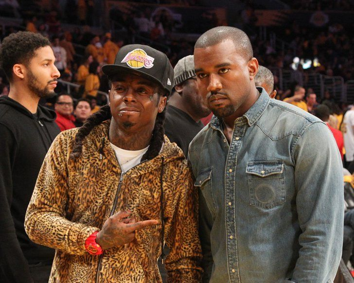Pin for Later: Does Kanye West Ever Get Excited About Anything? Lakers Game With Lil Wayne? Nah